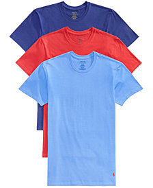 Polo Ralph Lauren Men's Classic Fit Crew Neck T-Shirts, 3-Pack