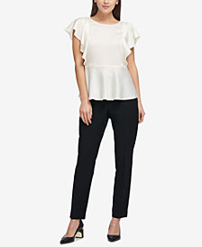 DKNY Ruffled Flowy Top, Created for Macy's