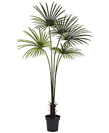 Nearly Natural 7' Fan Palm UV-Resistant Indoor/Outdoor Tree