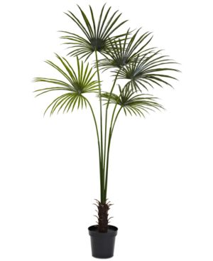 Nearly Natural 7' Fan Palm Uv-Resistant Indoor/Outdoor Tree 6084076