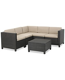 Murano Outdoor 6-Pc. Sectional Sofa Set