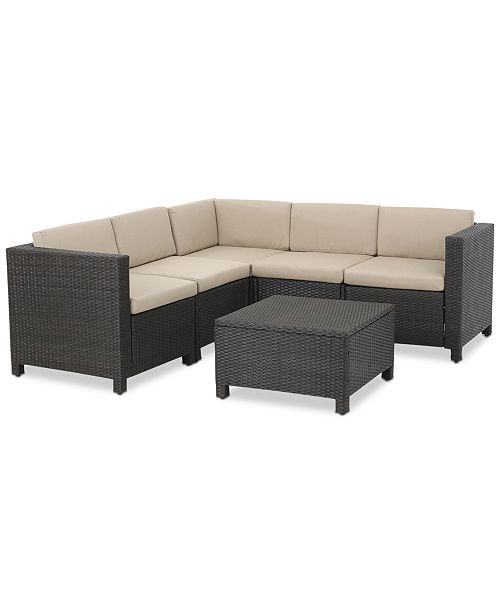 Murano Outdoor 6-Pc. Sectional Sofa Set, Quick Ship