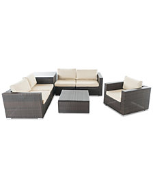 Carlsbad Outdoor 7-Pc. Sofa Set, Quick Ship
