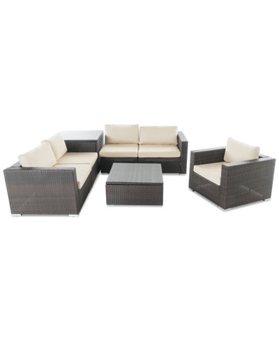 Carlsbad Outdoor 7-Pc. Sofa Set, Quick Ship