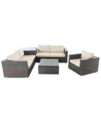 Carlsbad Outdoor 7 Pc. Sofa Set, Quick Ship. Furniture