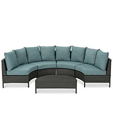 Brighton Outdoor 5-Pc. Sofa Set, Quick Ship