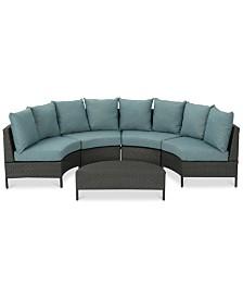 Brighton Outdoor 5-Pc. Sofa Set, Quick Ship