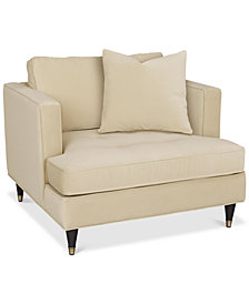 "Jennova 41"" Fabric Armchair, Created For Macy's"