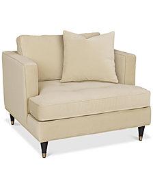 """Jennova 41"""" Fabric Armchair, Created For Macy's"""