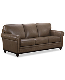 "Martha Stewart Collection Bradyn 89"" Leather Sofa, Created for Macy's"