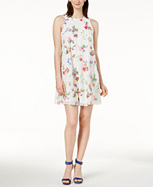 Calvin Klein Embroidered Shift Dress, Regular & Petite Sizes