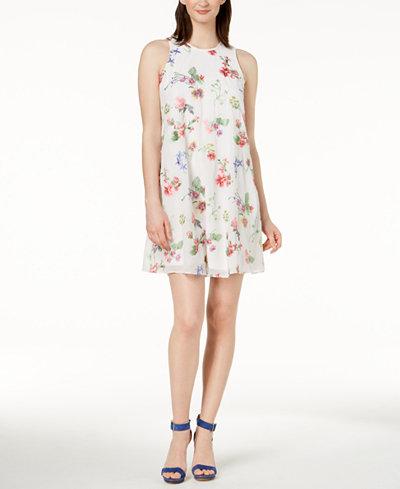 Calvin Klein Embroidered Shift Dress, Regular & Petite Sizes
