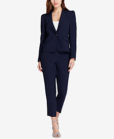 Tahari ASL Cropped One-Button Pantsuit, Regular & Petite