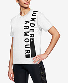 Under Armour Charged Cotton® Metallic-Logo T-Shirt