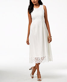 Alfani Lace Midi Dress, Created for Macy's