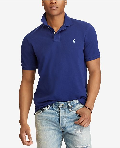 79be68fe64ee Polo Ralph Lauren Men s Custom Slim Fit Mesh Polo - Polos - Men - Macy s