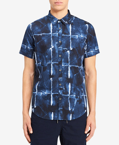 Calvin Klein Jeans Men's Abstract Grid-Print Print