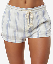 O'Neill Juniors' Katalina Cotton Striped Soft Shorts
