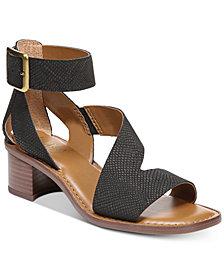Franco Sarto Lorelia Block-Heel Strappy Dress Sandals