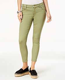 Celebrity Pink Juniors' Colored Ankle-Length Skinny Jeans