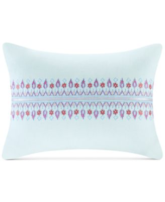 "Sofia 12"" x 16"" Embroidered Cotton Oblong Decorative Pillow"