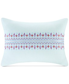 "Echo Sofia 12"" x 16"" Embroidered Cotton Oblong Decorative Pillow"