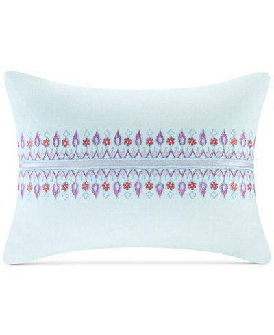 Echo Sofia 40 X 40 Embroidered Cotton Oblong Decorative Pillow Beauteous Echo Decorative Pillows