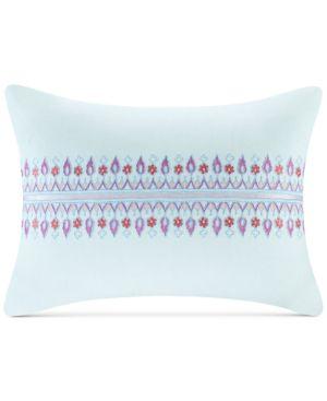 "Echo Sofia 12"" x 16"" Embroidered Cotton Oblong Decorative Pillow Bedding 5740632"