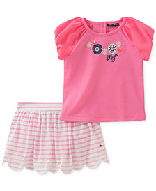 Tommy Hilfiger 2-Pc. Top & Skort Set, Baby Girls