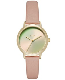Women's Modernist Pink Leather Strap Watch 32mm, Created for Macy's