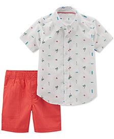 Carter's 2-Pc. Printed Cotton Shirt & Shorts Set, Baby Boys