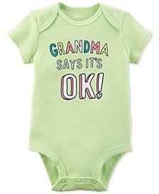 Carter's Graphic-Print Cotton Bodysuit, Baby Girls