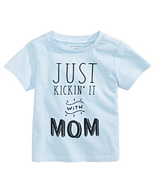 First Impressions Kickin' It With Mom Cotton T-Shirt, Baby Boys, Created for Macy's