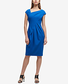 DKNY Asymmetrical Draped Sheath Dress, Created for Macy's
