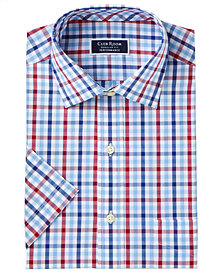 Club Room Men's Classic/Regular Fit Wrinkle-Resistant Gingham Dress Shirt, Created for Macy's