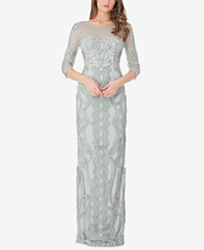 JS Collections Illusion Soutache Gown