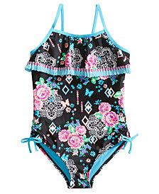 Breaking Waves 1-Pc. Arizona Garden Printed Swimsuit, Little & Big Girls