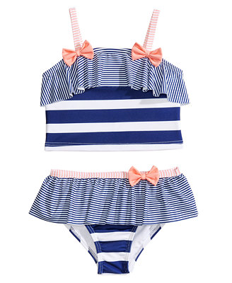 2 Pc. Stripes & Bows Bikini, Toddler Girls by Penelope Mack