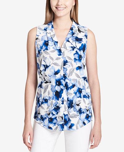 Calvin Klein Sleeveless Printed Top
