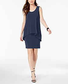 Alfani Petite Popover Shift Dress, Created for Macy's