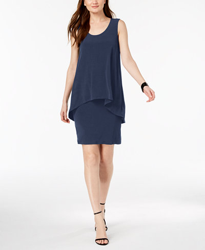 Alfani Popover Shift Dress, Created for Macy's