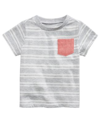 Striped Pocket T-Shirt, Baby Boys, Created for Macy's