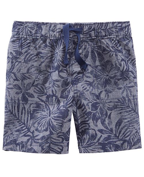 First Impressions Printed Cotton Shorts, Baby Boys, Created for Macy's