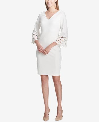 Calvin Klein Eyelet-Detail Sheath Dress
