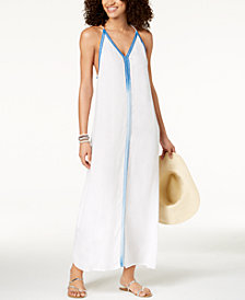 Raviya Multi-Colored Trim Maxi Dress Cover-Up