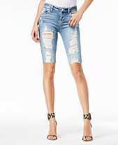 7f48529aa6ae0 GUESS Destructed Denim Bermuda Shorts. Quickview. 2 colors