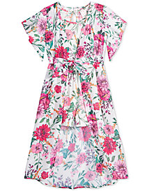 Belle Du Jour 2-Pc. Floral-Print Kimono & Romper Set, Big Girls