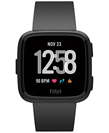 Fitbit Versa™ Black Band Touchscreen Smart Watch 39mm