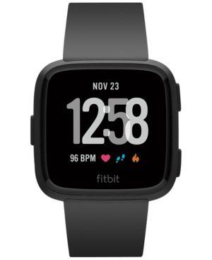 FITBIT Versa Black Band Touchscreen Smart Watch 39Mm