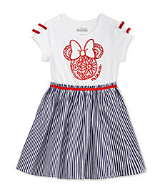 Disney's® Minnie Mouse Striped Dress, Little Girls